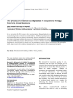 Evidence-based Practice in Occupational Therapy