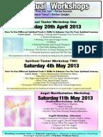 Spiritual Workshops April May 2013
