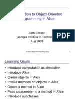 01 Intro Object Oriented Prog Alice