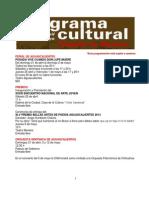 Programa Cultural 2013 (8 de Abril)