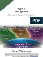 Hyper-V - 3 - Management