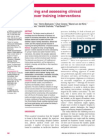 Mapping and assessing clinical handover training interventions