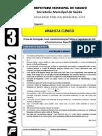 Prova - Analista Clinico - Tipo 3