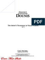 D.C. Dounis - The Artist s Technique of Violin Playing - Op. 12