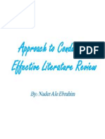 Approach to Conduct an Effective Literature Review, By