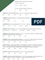 Matematiquês » Questões » Função do 2º grau » lista de exercícios