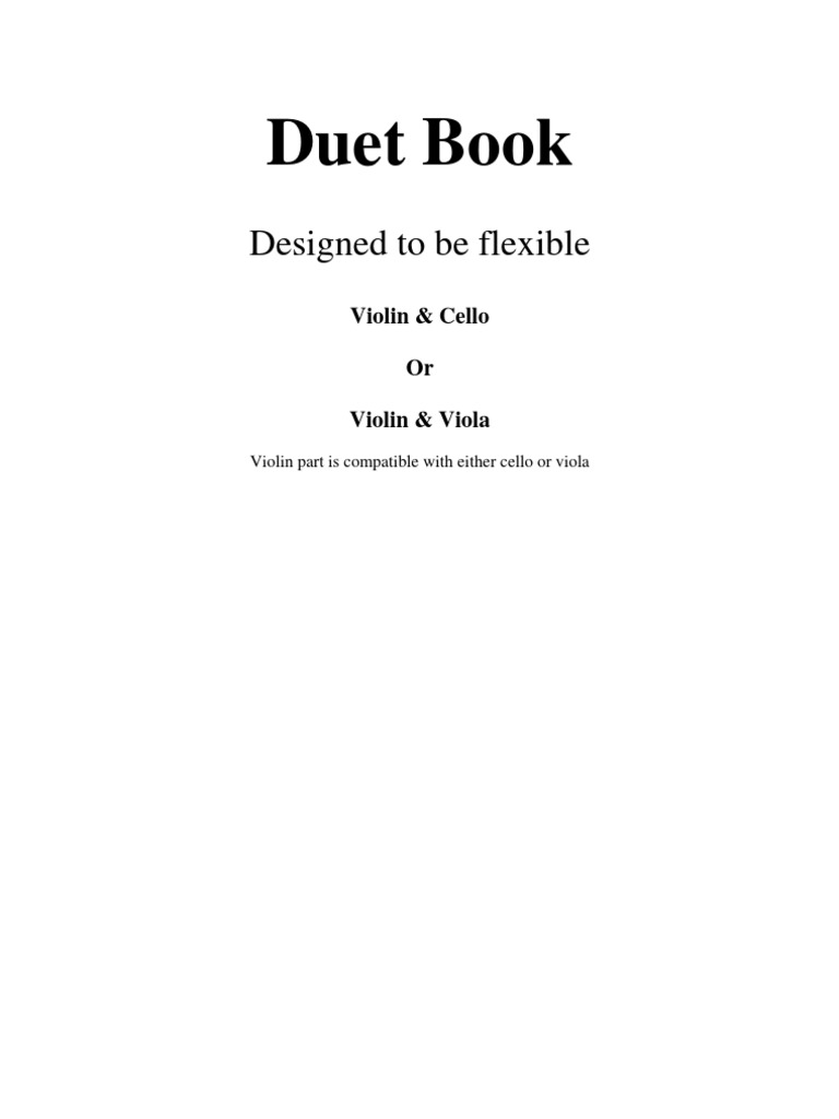 Duet Book Violin Viola 1 20 | Pachelbel's Canon | Bowed Instruments