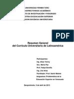 Resumen del Currículo Universitario de Latinoamérica