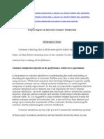 Project Report on Internal Customer Satisfaction.doc