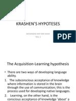 KRASHEN'S HYPOTESES