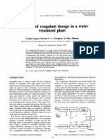 Modelling of Coagulant Dosage in a Water Treatment Plant