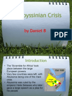 The Abyssinian Crisis by Daniel B (and George) Introduction