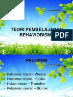 TEORI PEMBELAJARAN -MTE3107