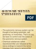 Autonomic Nervous System Drugs