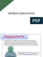 DEFENISI CONJUCTIVITIS