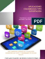 Aplicaciones colombianas tipo exportación elizabeth casasbuenas