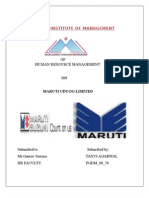 PROJECT ON HRM STRATEGIES OF MARUTI UDYOG LIMITED