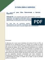 Contratos Para Obra o Servicio 2010