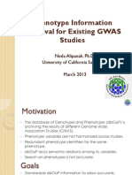 Phenotype Information for Existing GWAS Studies