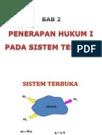 Bab II-3 Penerapan Hukum i Pada Sistem Terbuka