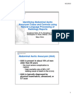 Identifying Abdominal Aortic Aneurysm Cases and Controls Using Natural Language Processing of Radiology Reports
