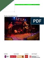 mirallsonor'13 | Concerts i actes presentació a Barcelona i Vilafranca del Penedès