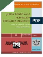 ensayo planeacion educativa