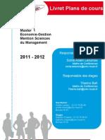 Livret Plans de Cours Master1SG-2011-2012(1)
