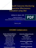 Distributed Health Outcome Monitoring and Comparative Effectiveness Evaluation Using i2b2
