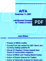 John Ehlers - Left Brained Concepts for Traders in Their Right Minds - AfTA2007