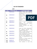 List of Standards Subjectwise