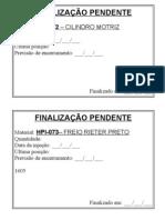 FINALIZAÇÃO PENDENTE
