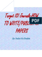 Target ISI Journals-HOW TO WRITE/PUBLISH ISI PAPERS, By