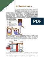 Evolución de la máquina de vapor y aplicaciones