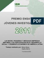 Las Mipymes y Su Participacion en El Desarrollo Social y Cremiento Economico de America Latina