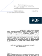 Vara Cível - Ação renovatória de contrato de locação - Wande