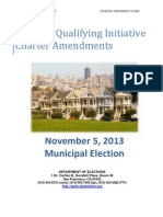 2013 San Francisco City Guide for Qualifying a Voter Initiated Charter Law Change