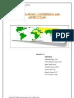 CSR-Global Governance