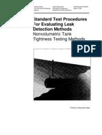 Tank Testing Procedure