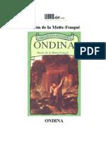 Ondina de Friedrich de La Motte Fouque
