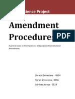Amendment Procedure - Political Science