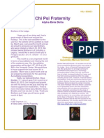 April 2013 Chi Psi Alumni Newsletter
