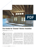 Article on 'Insulation in homes' by Chaitanya Raj Goyal