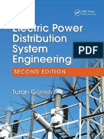 Electric Power Distribution System Engineering Turan Gonen