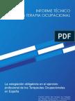 Informe Técnico sobre Terapia Ocupacional