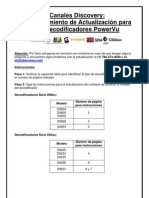 Canales Discovery- Instrucciones Para La Actualizacion de Software