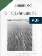 Krishnamurti, le premier homme planétaire, nous a quittés, par René Fouéré
