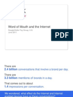 Word of Mouth and the Internet Research Studies
