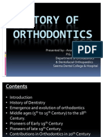 History of Ortho