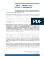 Declaración evaluación docente 26 marzo 2013